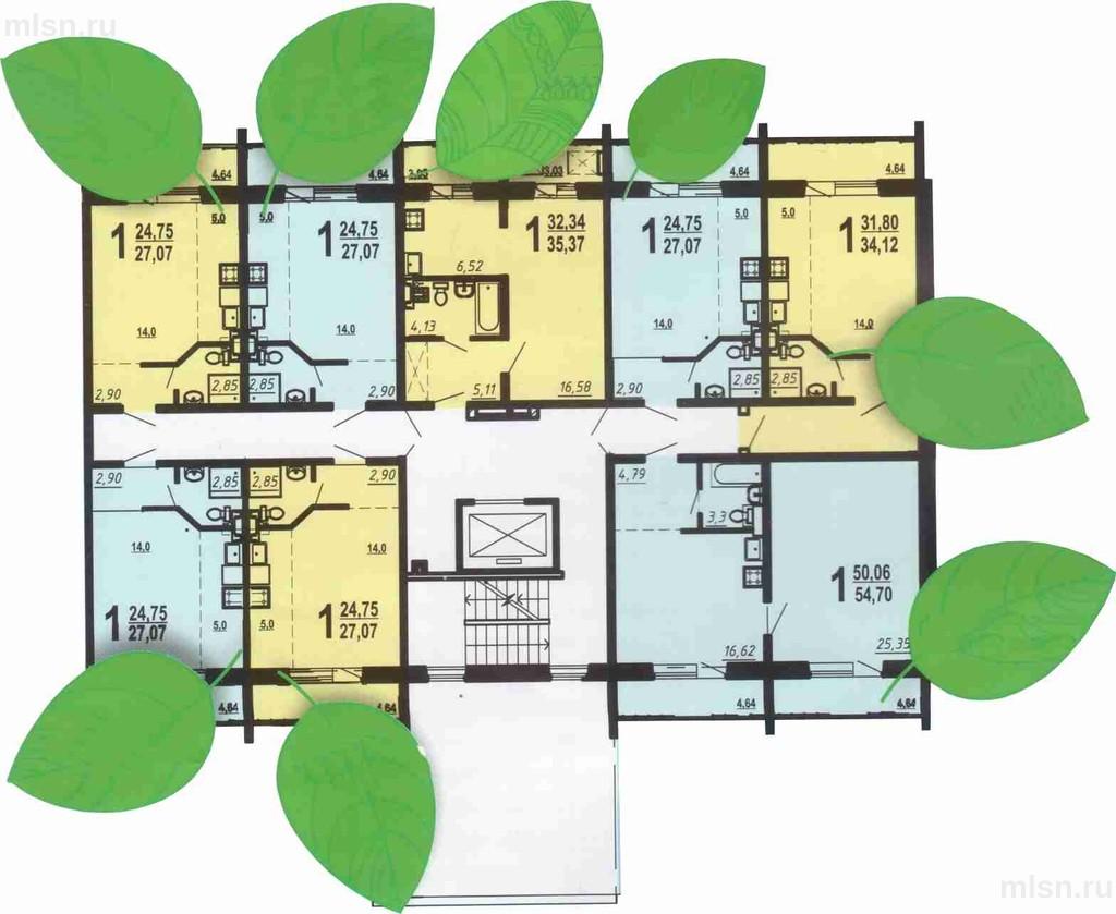 Студия+ спальня 59 кв.м., купить квартиру в новостройке от з.